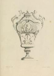 vintage graphic vase ornament