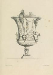 vintage graphic ornament vase classical