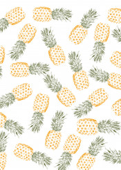 pineapples pattern color spring summer fresh cute fruit fruity