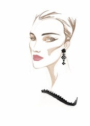 fashion fashionportrait portrait woman female face beauty fashionillustration chic couture style minimal jewelry watercolor royal fashionart