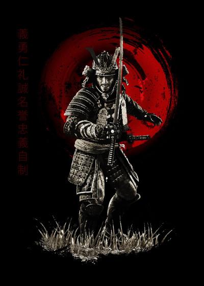 Cornel Vlad Samurai Bushido   Displate Prints on Steel
