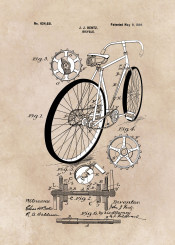 patent patents illustration bicycle bicycles cycling decor decoration