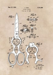 patent patents kitchen decor decoration home scissors illustration