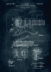 1954 tremolo divide stringed instruments music musical fender clarence inventor patent patents vintage guitar bass