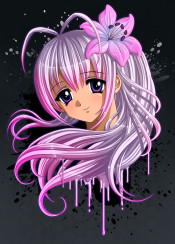 anime manga mangagirl girlfriend flower cute eyes kawaii pink moe japan japanese animegirl cutegirl lily