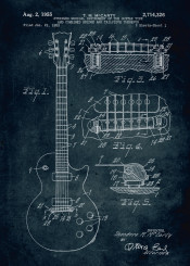 1953 stringed musical instrument guitar type combined bridge tailpiece therefor music patent patents vintage