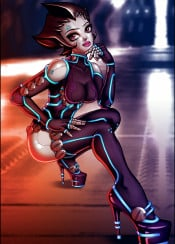 android girl woman female gynoid robot droid heels scifi astroboy astrogirl manga anime game videogame gaming character futuristic tron bot