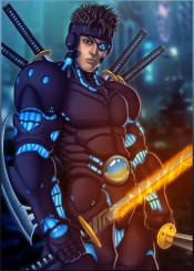 samurai cyber cyberpunk ninja warrior videogame gamer gaming game sword katana cyborg armour character hero villain scifi future conceptart anime manga japan