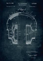 1963 headphone assembly inventor gustavo falkenberg patent patents music musical instrument listen vintage