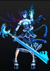 magic fantasy blue pirate sword anime manga animegirl mangagirl female character characterdesign gaming gamer videogame sailor cosplay