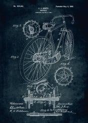 bicycle 1897 inventor john hentz patent patents sport ride vintage