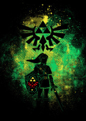 zelda link ganon triforce hyrule gaming geek nerd courage breathofthewild breath wild colors shield hero videogames games video game illustration jeuxvideo