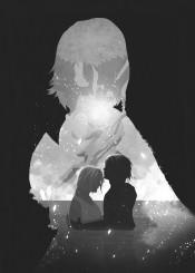 final fantasy yuna gaming shadows retina black white games gamer video room darkness