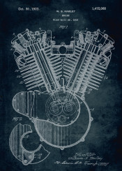 1919 engine moto cycle motorcycle inventor william s harley davidson speed fast ride patent patents vintage classic