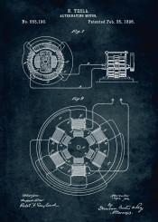 1896 alternating motor inventor nikola tesla patent patents car cars vintage