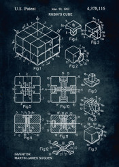1983 rubiks cube rubik inventor martin james sugden manipulable puzzle toy toys challenge record patent patents vintage