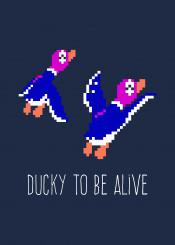 duckhunt duck ducks nes zapper nintendo 8bit retro animals pun quote statement positive retrowave vaporwave hunt happy hunting birds pixel pixelart