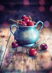 cherry cherries fruit red ambient food feed nutrition rustic
