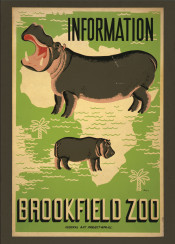 vintage, poster, vintageposter, animals, zoo