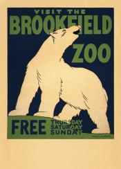 vintage, vintageposter, poster, zoo, animals, bear