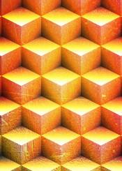geometry geomtric block square blocks gold overlay vintage