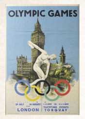 vintage,poster,vintageposter,olympicgames,sport,london