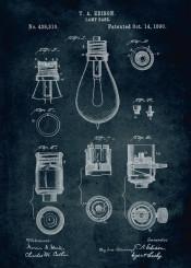 1890 lamp base inventor thomas edison bulb bulbs light ilumination patent patents vintage