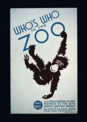 vintage, poster, vintageposter, zoo, monkey