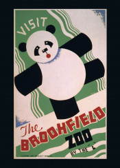 vintage, poster, vintageposter, animals, bear, zoo