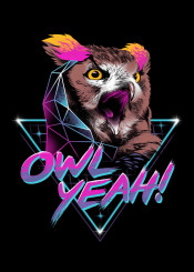 owl owls nocturnal animal animals rad neon synthwave