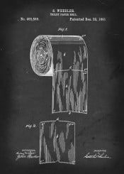 vintage patent patents toilet paper roll bathroom loo
