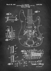 vintage patent fender guitar pickup electric musical instrument bass