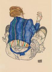 egonschiele,schiele,woman,illustration,watercolor