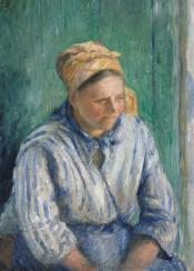 pissarro,camillepissarro,portrait,woman,painting,impressionism
