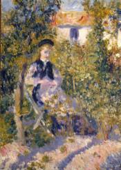 renoir,augusterenoir,impressionism,painting,landscape,woman