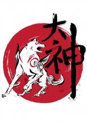 okami japan videogames gaming wolf white playstation kanji japanese
