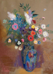 redon,odilonredon,flowers,bouquet,pastel,painting