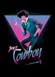 cowboy bebop spike spiegel anime manga 80s neon retro synthwave space
