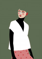 woman simple fashion style stars minimalist