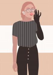 woman girl pretty glasses fashion