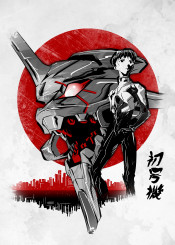 anime manga evangelion sun japan robot