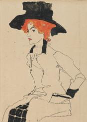 schiele,egonschiele,painting,litograph,portrait,woman