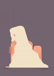 illustration vector girl character minimal colours