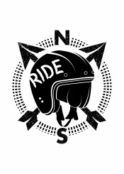 north south motorbike motorcycle helmet motorcyclist rider riding black