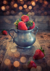 strawberry fruit red cup food feed rustic