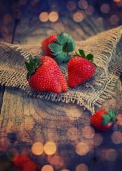 strawberry fruit red passion food rustic