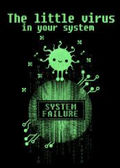 virus computer programmer hacker system failure little prince petite code binary nerd geek dos windows