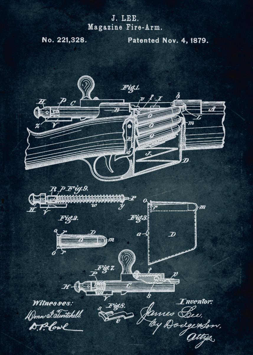 No140 - 1879 - Magazine fire-arm - Inventor J. Lee 306287