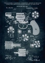 129 1881 revolving fire arm colt colts patent patents patentart gun guns inventor william mason vinage war