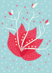 abstract flower vector illustration floral flora botanical whimsical decorative beautiful pretty nature